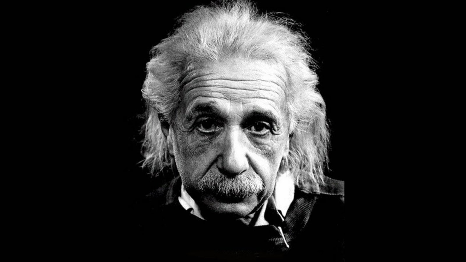 Albert Einstein b+w photo